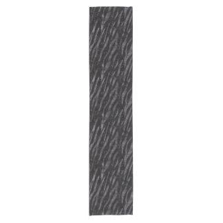SKIN3 BLACK MARBLE & BLACK WATERCOLOR SHORT TABLE RUNNER