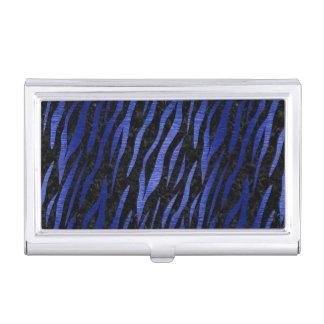 SKIN3 BLACK MARBLE & BLUE BRUSHED METAL BUSINESS CARD HOLDER