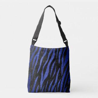 SKIN3 BLACK MARBLE & BLUE BRUSHED METAL CROSSBODY BAG