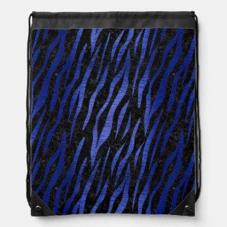 SKIN3 BLACK MARBLE & BLUE BRUSHED METAL DRAWSTRING BAG