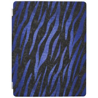 SKIN3 BLACK MARBLE & BLUE BRUSHED METAL iPad COVER