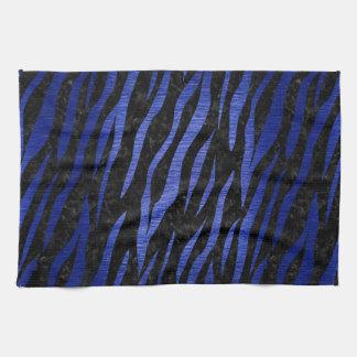 SKIN3 BLACK MARBLE & BLUE BRUSHED METAL KITCHEN TOWEL
