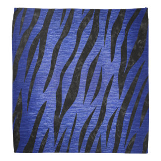 SKIN3 BLACK MARBLE & BLUE BRUSHED METAL (R) BANDANA