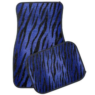 SKIN3 BLACK MARBLE & BLUE BRUSHED METAL (R) CAR MAT