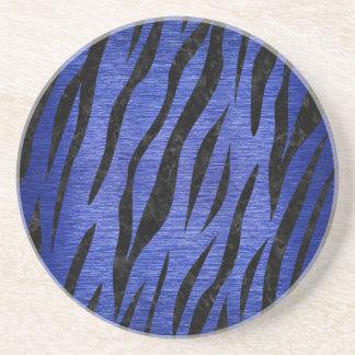 SKIN3 BLACK MARBLE & BLUE BRUSHED METAL (R) COASTER