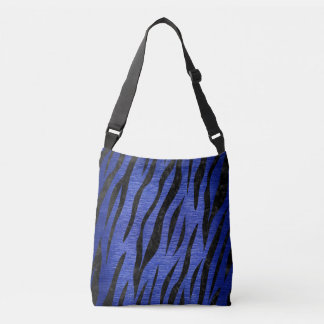 SKIN3 BLACK MARBLE & BLUE BRUSHED METAL (R) CROSSBODY BAG