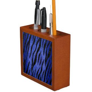 SKIN3 BLACK MARBLE & BLUE BRUSHED METAL (R) DESK ORGANIZER