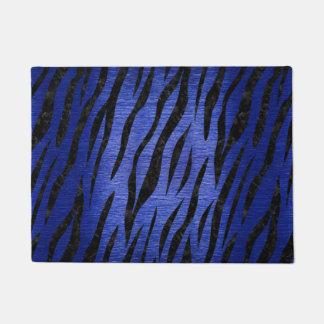 SKIN3 BLACK MARBLE & BLUE BRUSHED METAL (R) DOORMAT