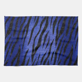 SKIN3 BLACK MARBLE & BLUE BRUSHED METAL (R) KITCHEN TOWEL
