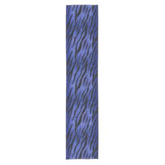 SKIN3 BLACK MARBLE & BLUE BRUSHED METAL (R) SHORT TABLE RUNNER