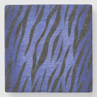 SKIN3 BLACK MARBLE & BLUE BRUSHED METAL (R) STONE COASTER