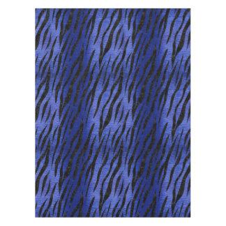 SKIN3 BLACK MARBLE & BLUE BRUSHED METAL (R) TABLECLOTH