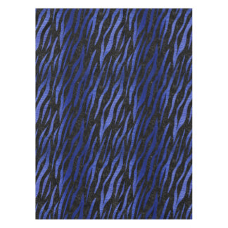 SKIN3 BLACK MARBLE & BLUE BRUSHED METAL TABLECLOTH
