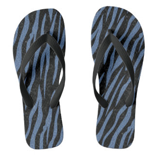 SKIN3 BLACK MARBLE & BLUE DENIM FLIP FLOPS