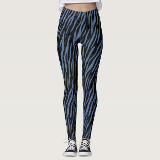 SKIN3 BLACK MARBLE & BLUE DENIM LEGGINGS