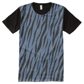 SKIN3 BLACK MARBLE & BLUE DENIM (R) All-Over-Print T-Shirt