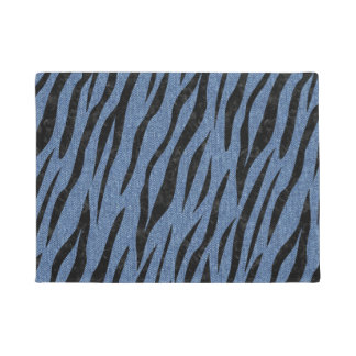 SKIN3 BLACK MARBLE & BLUE DENIM (R) DOORMAT