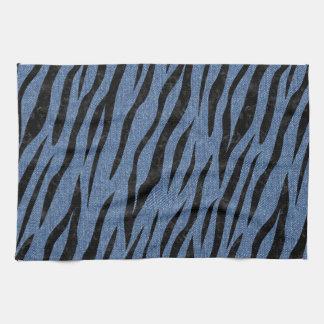 SKIN3 BLACK MARBLE & BLUE DENIM (R) KITCHEN TOWEL