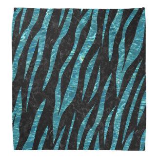 SKIN3 BLACK MARBLE & BLUE-GREEN WATER BANDANA