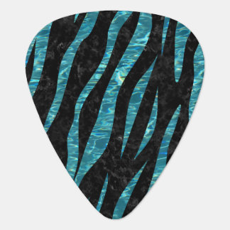 SKIN3 BLACK MARBLE & BLUE-GREEN WATER GUITAR PICK