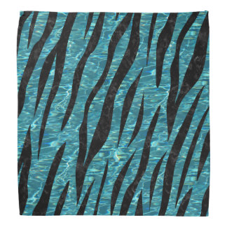 SKIN3 BLACK MARBLE & BLUE-GREEN WATER (R) BANDANA