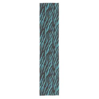SKIN3 BLACK MARBLE & BLUE-GREEN WATER SHORT TABLE RUNNER