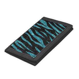 SKIN3 BLACK MARBLE & BLUE-GREEN WATER TRIFOLD WALLET