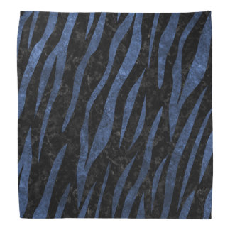 SKIN3 BLACK MARBLE & BLUE LEATHER BANDANA