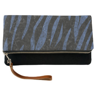 SKIN3 BLACK MARBLE & BLUE LEATHER CLUTCH