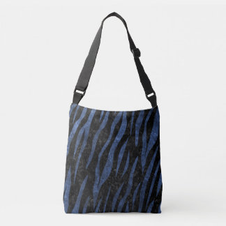 SKIN3 BLACK MARBLE & BLUE LEATHER CROSSBODY BAG