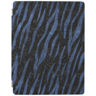 SKIN3 BLACK MARBLE & BLUE LEATHER iPad COVER