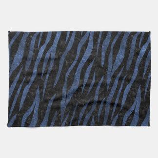 SKIN3 BLACK MARBLE & BLUE LEATHER KITCHEN TOWEL