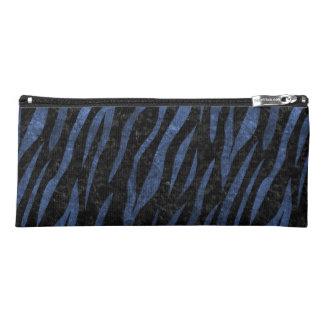 SKIN3 BLACK MARBLE & BLUE LEATHER PENCIL CASE