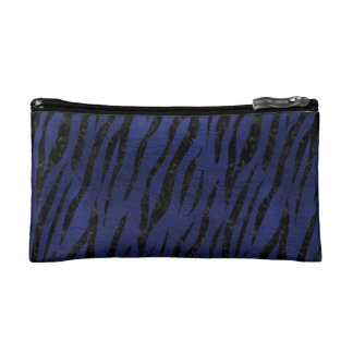 SKIN3 BLACK MARBLE & BLUE LEATHER (R) COSMETIC BAGS
