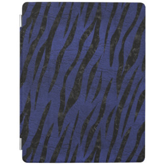 SKIN3 BLACK MARBLE & BLUE LEATHER (R) iPad COVER