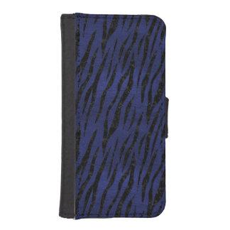 SKIN3 BLACK MARBLE & BLUE LEATHER (R) iPhone SE/5/5s WALLET CASE