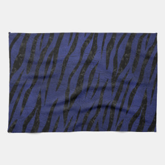 SKIN3 BLACK MARBLE & BLUE LEATHER (R) KITCHEN TOWEL