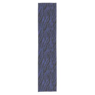 SKIN3 BLACK MARBLE & BLUE LEATHER (R) SHORT TABLE RUNNER