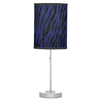 SKIN3 BLACK MARBLE & BLUE LEATHER (R) TABLE LAMP