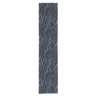 SKIN3 BLACK MARBLE & BLUE LEATHER SHORT TABLE RUNNER