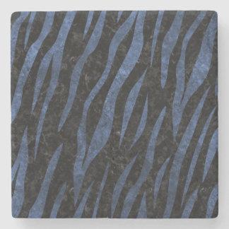 SKIN3 BLACK MARBLE & BLUE LEATHER STONE COASTER