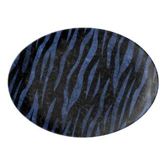 SKIN3 BLACK MARBLE & BLUE STONE PORCELAIN SERVING PLATTER