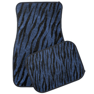 SKIN3 BLACK MARBLE & BLUE STONE (R) CAR MAT