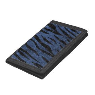 SKIN3 BLACK MARBLE & BLUE STONE (R) TRI-FOLD WALLETS