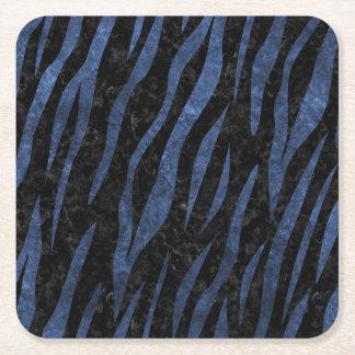 SKIN3 BLACK MARBLE & BLUE STONE SQUARE PAPER COASTER