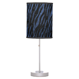 SKIN3 BLACK MARBLE & BLUE STONE TABLE LAMP