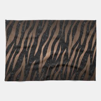 SKIN3 BLACK MARBLE & BRONZE METAL HAND TOWEL