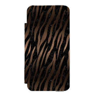 SKIN3 BLACK MARBLE & BRONZE METAL INCIPIO WATSON™ iPhone 5 WALLET CASE