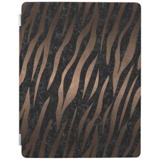 SKIN3 BLACK MARBLE & BRONZE METAL iPad COVER