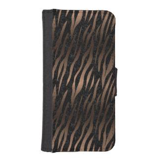 SKIN3 BLACK MARBLE & BRONZE METAL iPhone SE/5/5s WALLET CASE